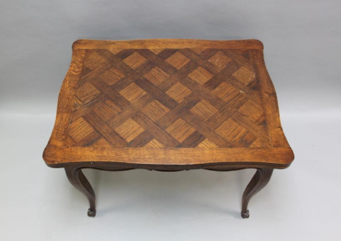 Louis XIV Style Oak Desk with Parquetry Top - 3