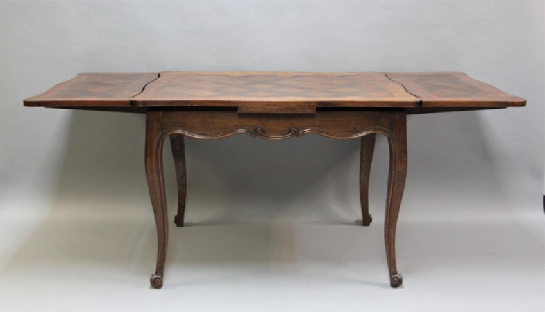 Louis XIV Style Oak Desk with Parquetry Top - 6