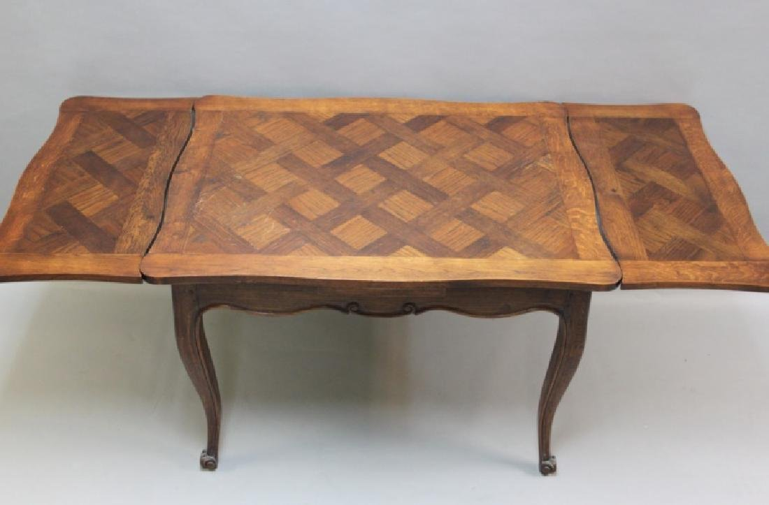 Louis XIV Style Oak Desk with Parquetry Top - 7