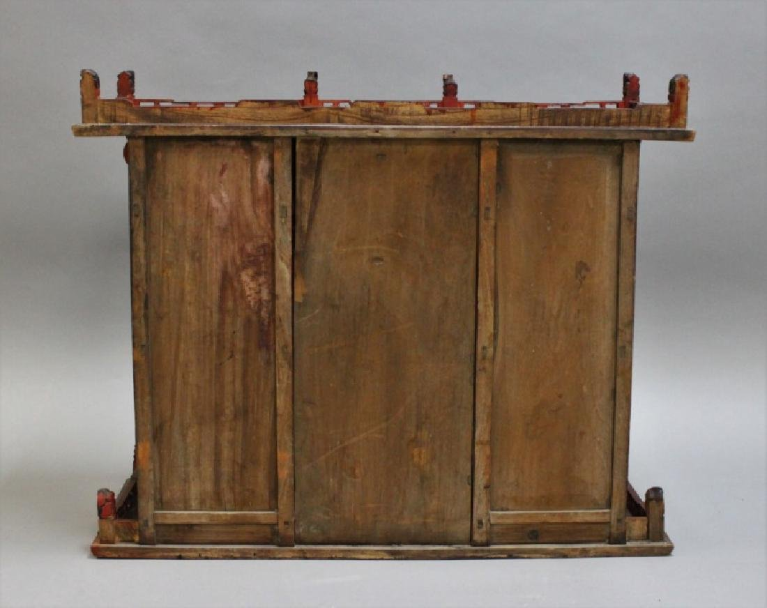 Antique Carved Chinese Buddhist Altar Cabinet - 9