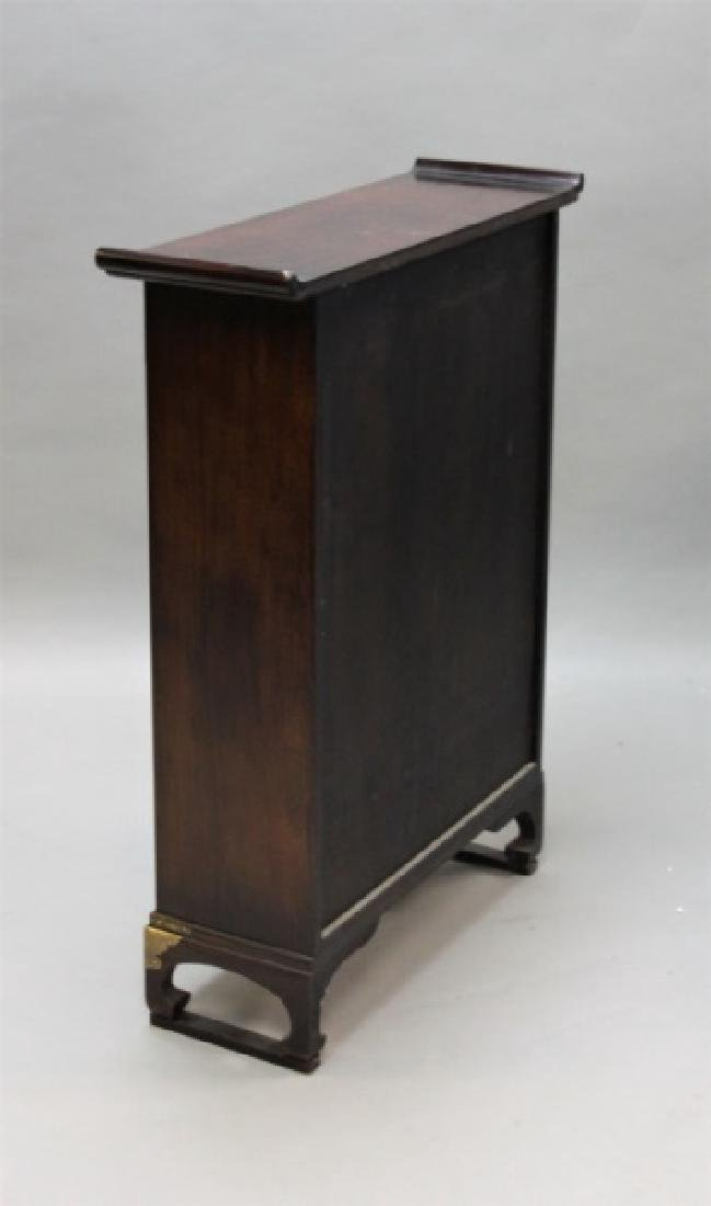 Chinese Rosewood Apothecary Cabinet w Brass Mounts - 6