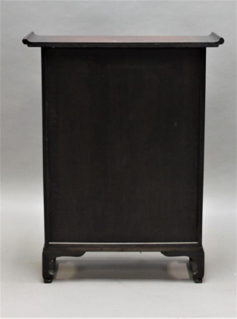 Chinese Rosewood Apothecary Cabinet w Brass Mounts - 7