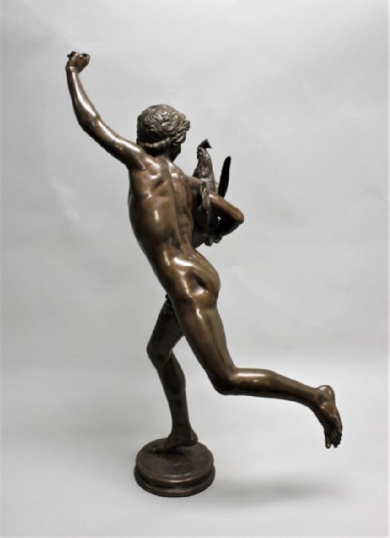 """Falguiere Bronze """"Le Vainqueur du Combat de Coqs"""" - 2"""