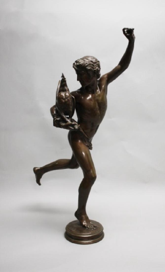 """Falguiere Bronze """"Le Vainqueur du Combat de Coqs"""" - 3"""
