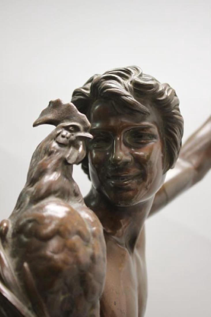"""Falguiere Bronze """"Le Vainqueur du Combat de Coqs"""" - 5"""