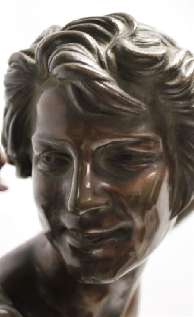 """Falguiere Bronze """"Le Vainqueur du Combat de Coqs"""" - 6"""
