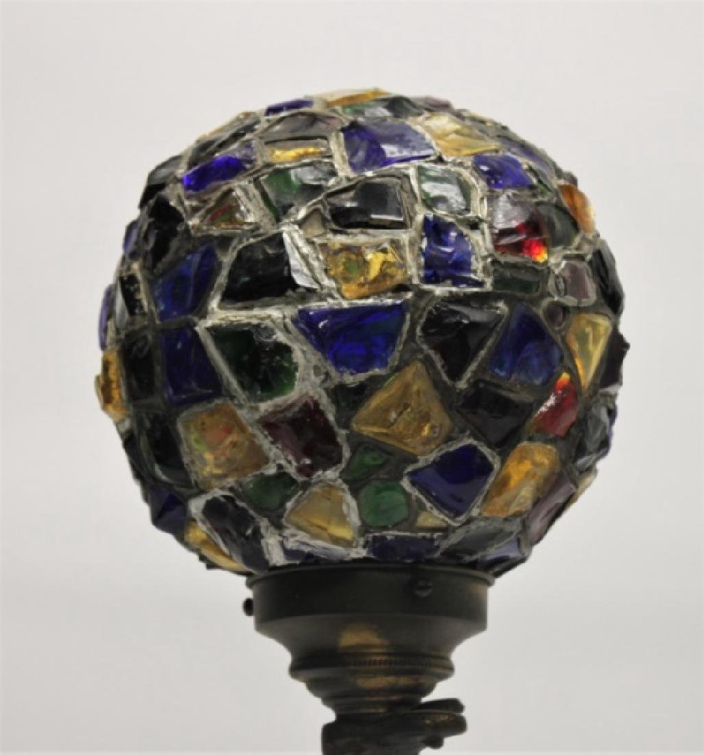 Art Deco Lamp, Lady Balancing Globe with Her Feet - 4