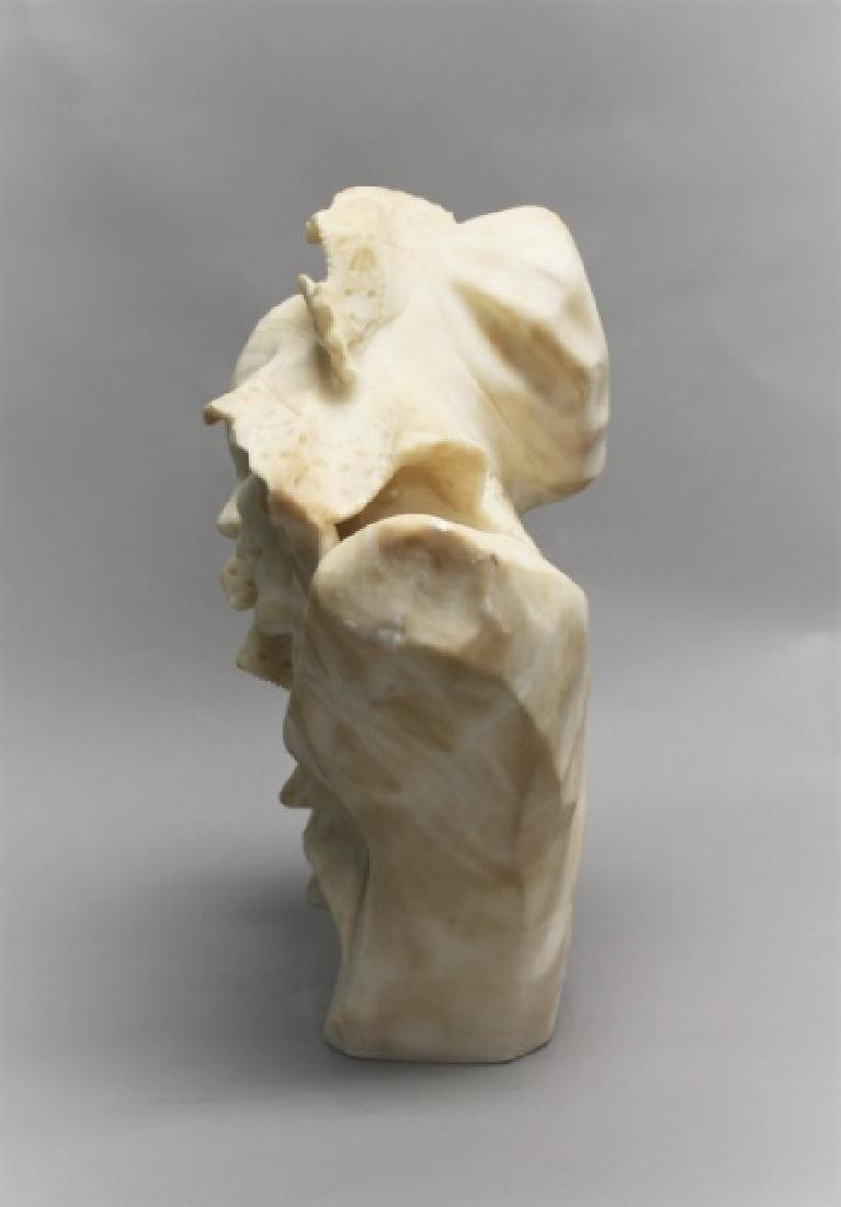 19th Century Alabaster Bust of a Young Girl - 3