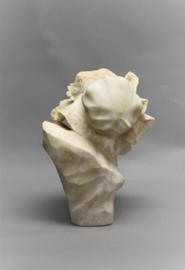 19th Century Alabaster Bust of a Young Girl - 4