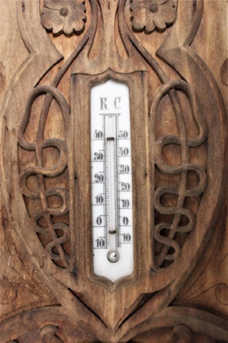 Art Nouveau Black Forest Germany Barometer - 5