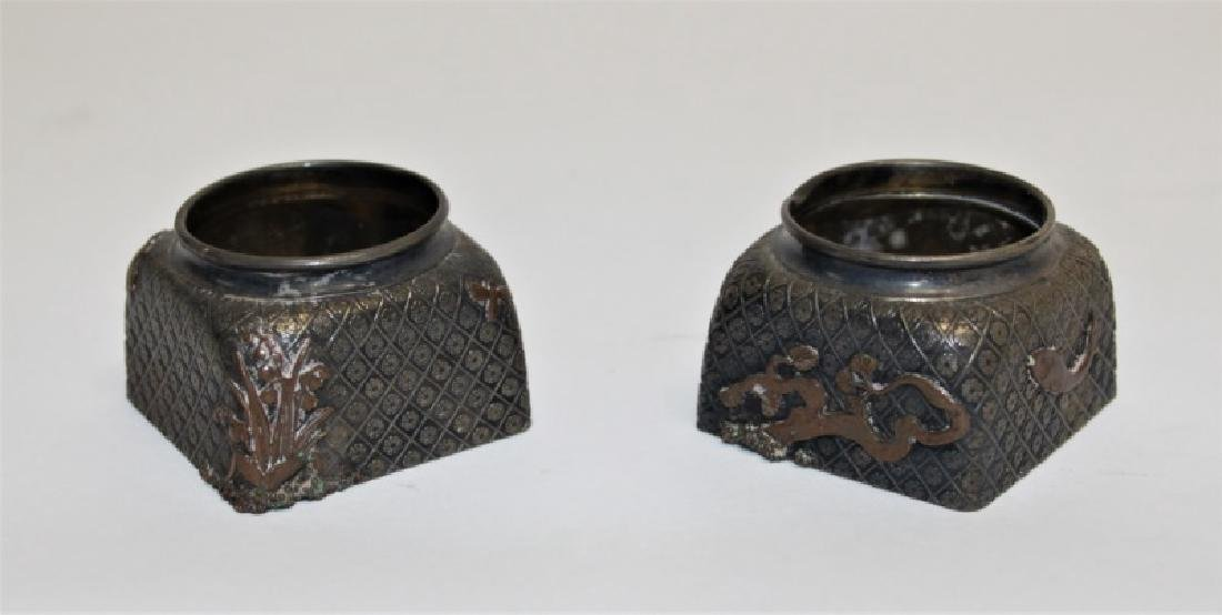 Pair of Gorham Sterling Silver Inkwells