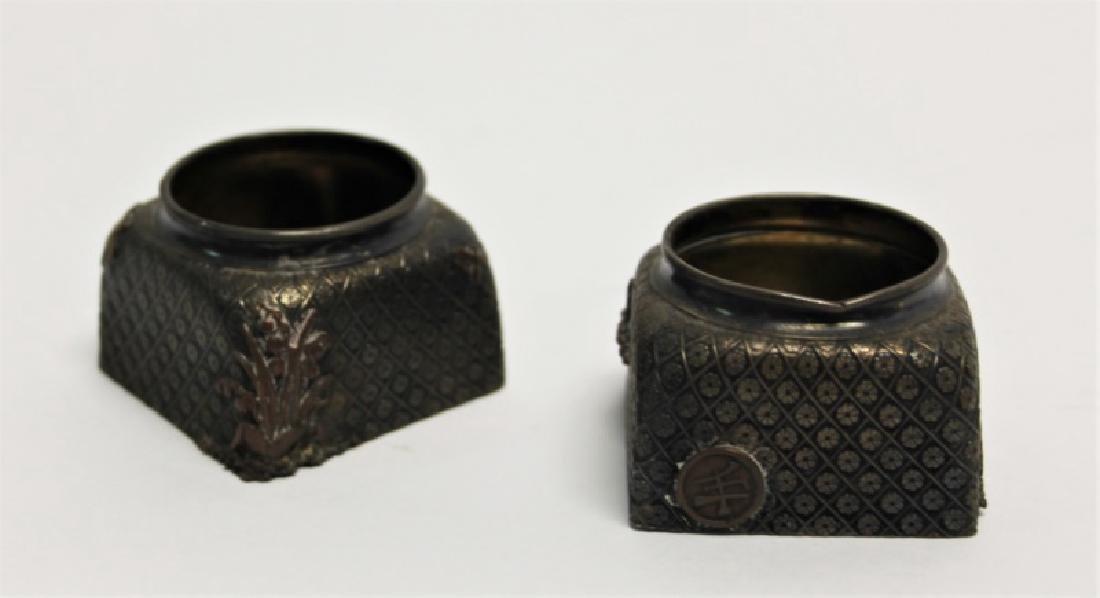 Pair of Gorham Sterling Silver Inkwells - 2