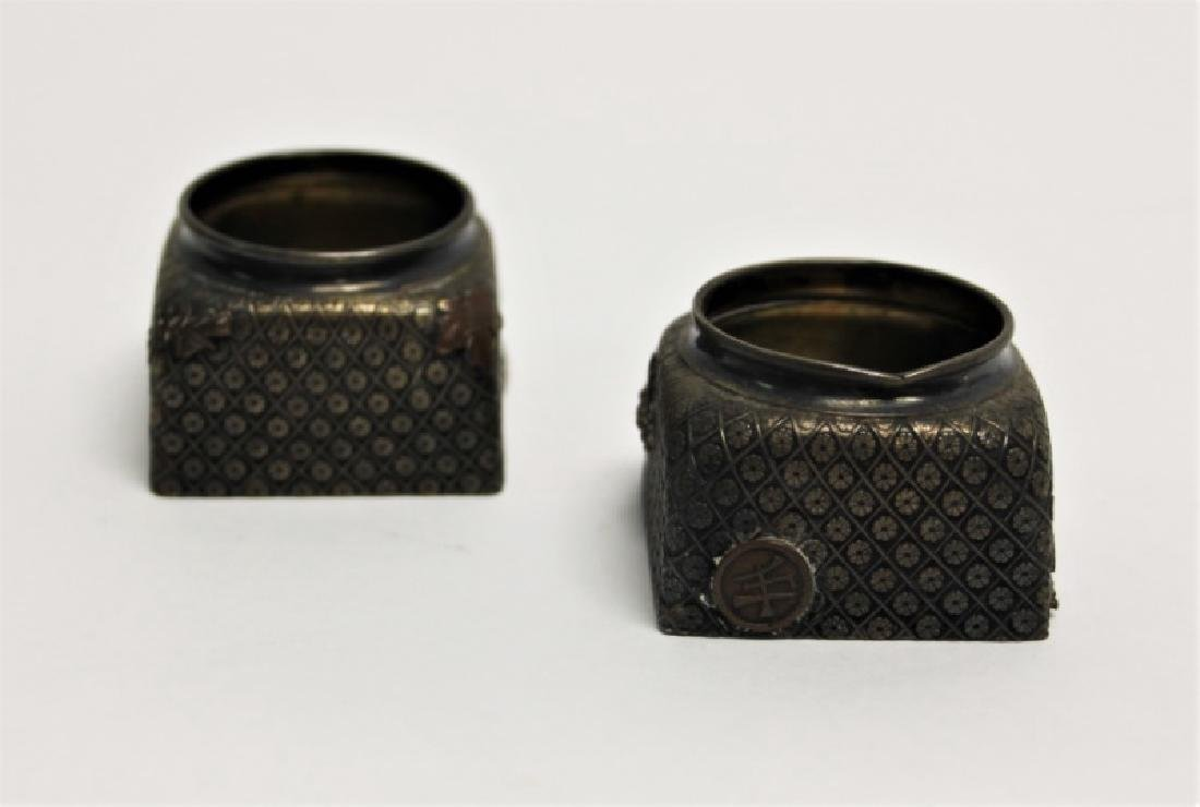 Pair of Gorham Sterling Silver Inkwells - 3