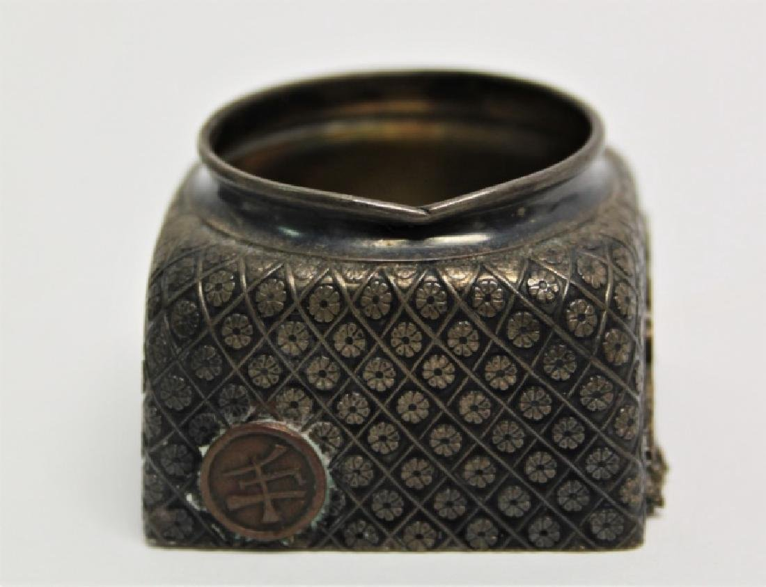 Pair of Gorham Sterling Silver Inkwells - 4
