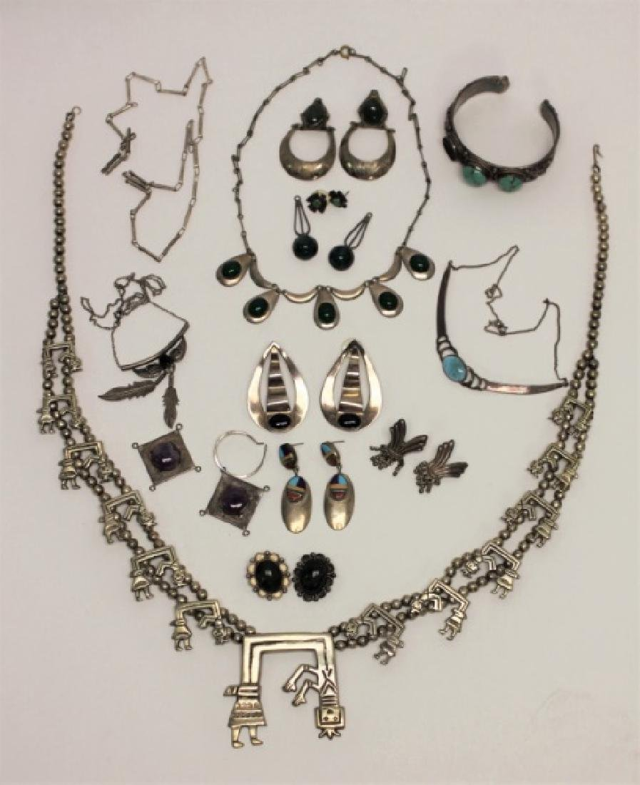 (22) Pcs Sterling Jewelry Earrings & Necklaces