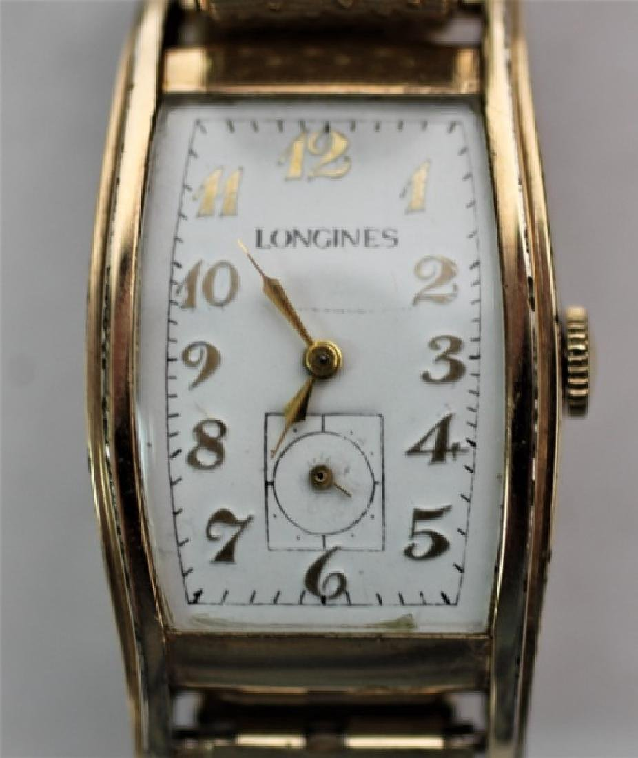 "1941 Longines 14K ""President Jackson"" Tank Watch - 5"