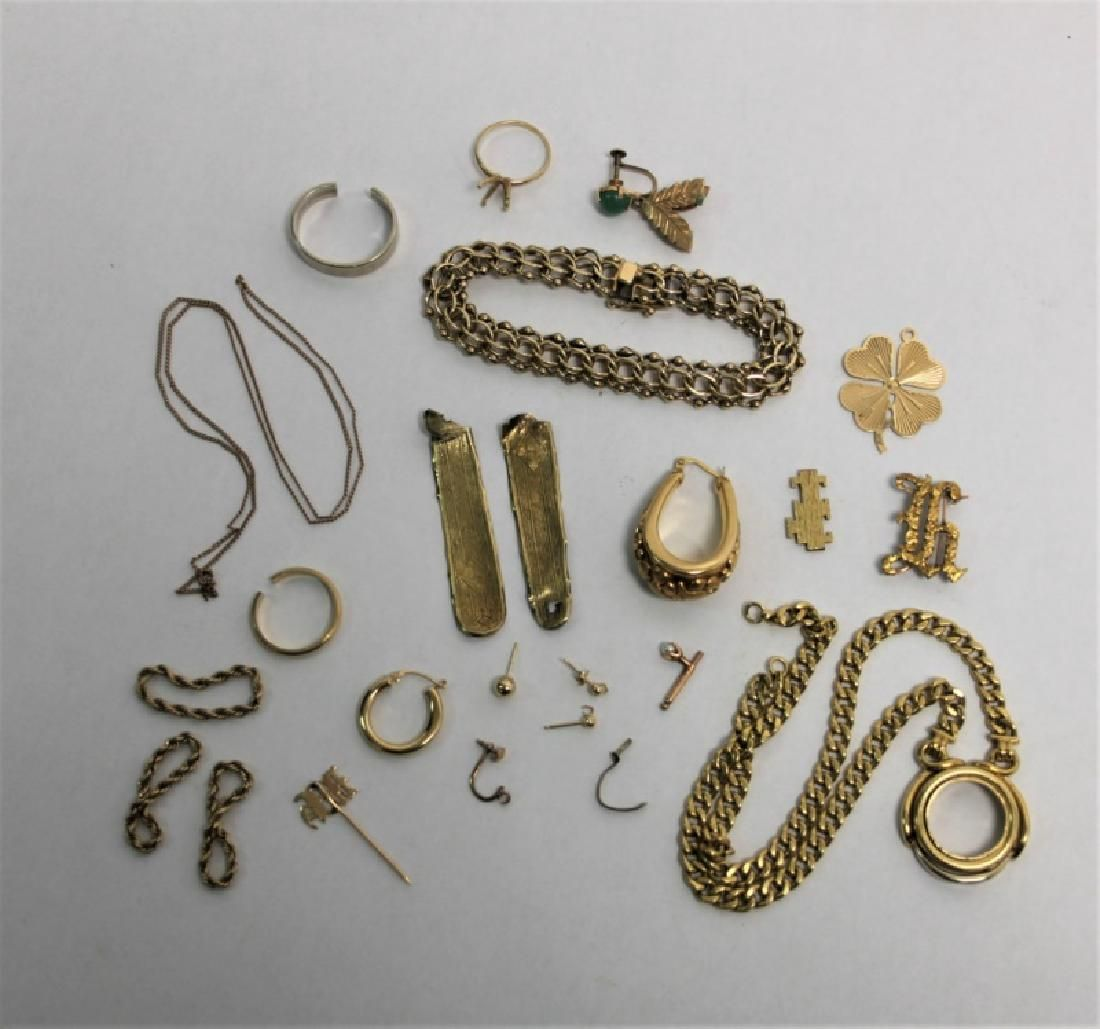 14K Gold Jewelry Bracelet & Scrap Items