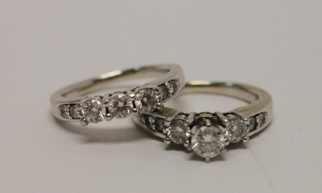 14k Gold & Diamond Wedding Band & Engagement Ring