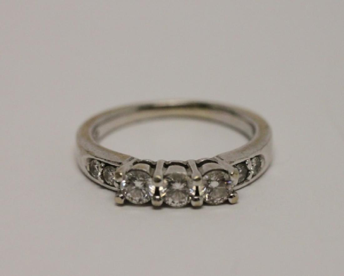 14k Gold & Diamond Wedding Band & Engagement Ring - 5
