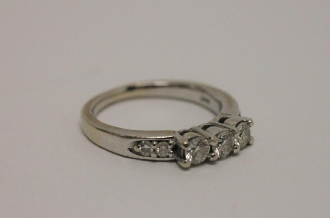 14k Gold & Diamond Wedding Band & Engagement Ring - 6