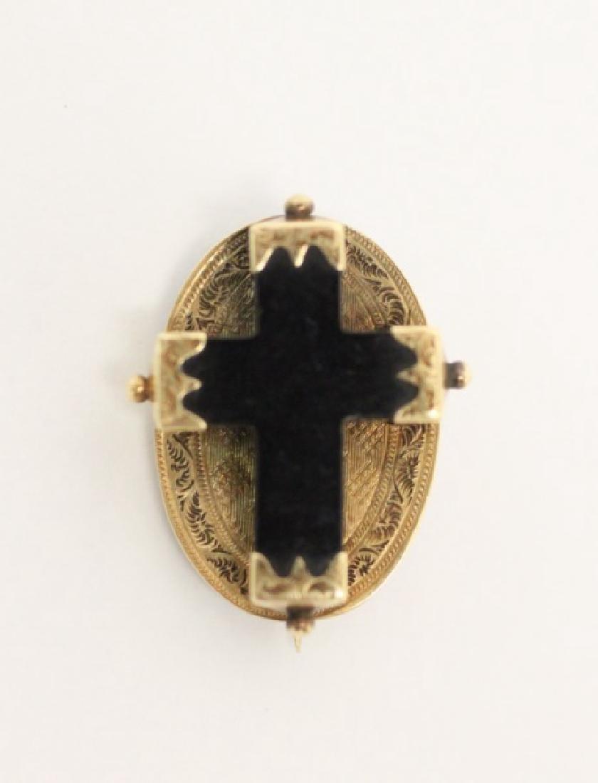 (4) Jewelry Crosses-14K Gold & Platinum w Diamonds - 4