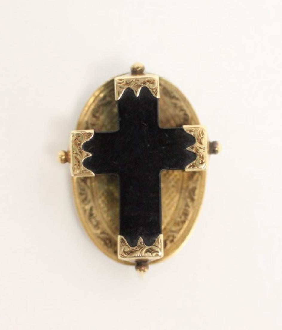 (4) Jewelry Crosses-14K Gold & Platinum w Diamonds - 5