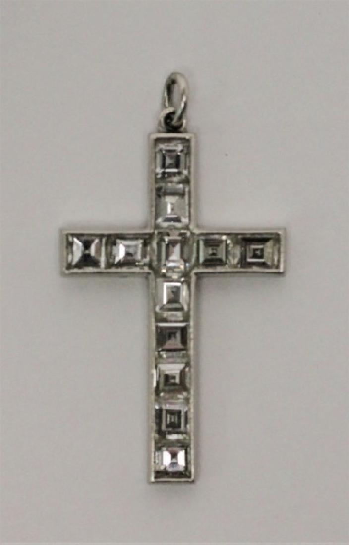(4) Jewelry Crosses-14K Gold & Platinum w Diamonds - 7