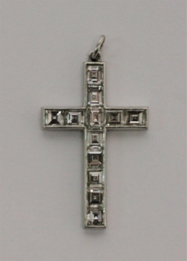 (4) Jewelry Crosses-14K Gold & Platinum w Diamonds - 8