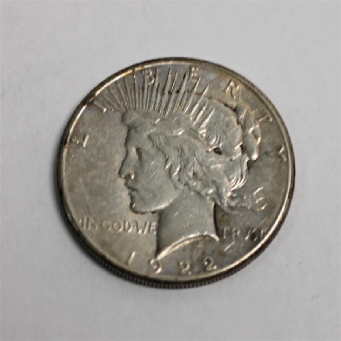 "(9) 1922-1926 ""Peace"" Silver Dollars 6.96 Troy Oz. - 7"