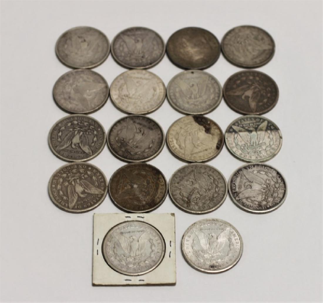 (18) 1873-1921 Morgan Silver Dollars 13.92 Troy Oz