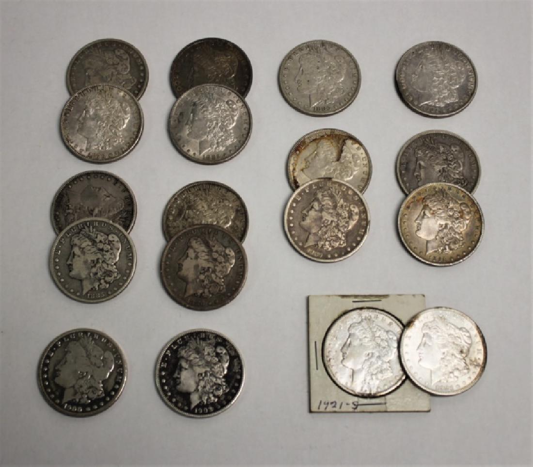(18) 1873-1921 Morgan Silver Dollars 13.92 Troy Oz - 2