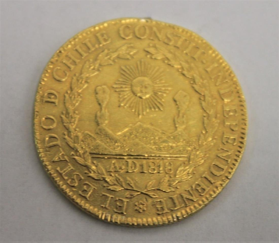 1834 Chilean 8 Escudos Gold Coin = 0.85 Troy Oz. - 3