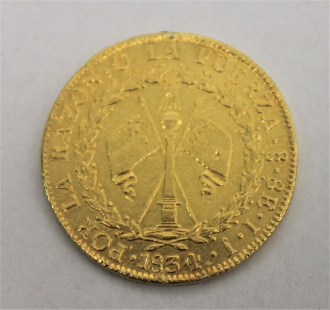 1834 Chilean 8 Escudos Gold Coin = 0.85 Troy Oz. - 4