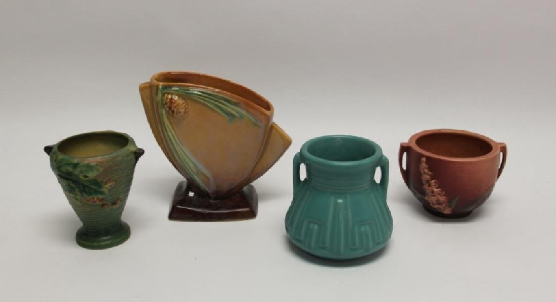 4 art deco vintage roseville pottery vases 4 art deco vintage roseville pottery vases reviewsmspy