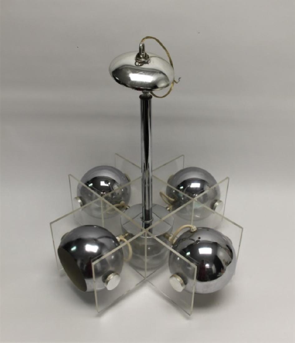 Reggiani Chrome & Lucite Eye Ball Chandelier