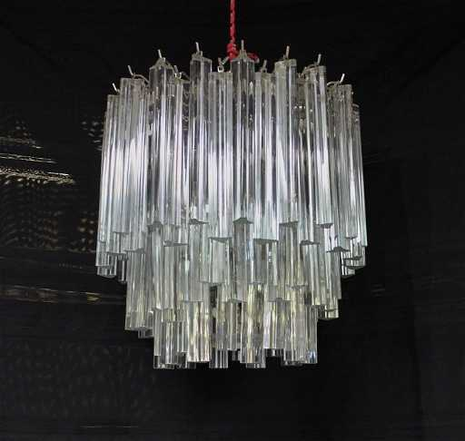 Mcm camer murano glass 3 tier prism chandelier aloadofball Gallery