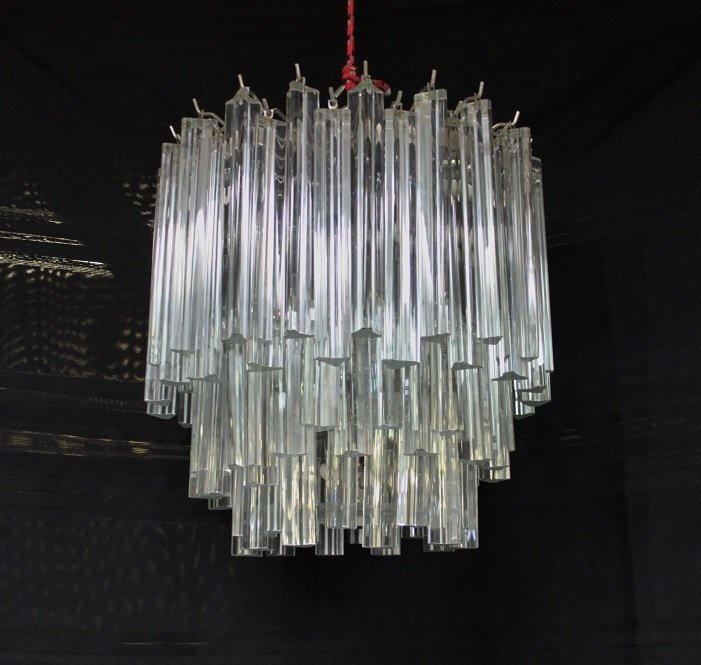 Camer Murano Glass 3 tier Prism Chandelier