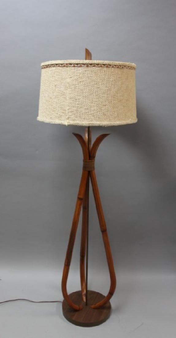 MCM 1960u0027s Ficks Reed Bamboo U0026 Rattan Floor Lamp