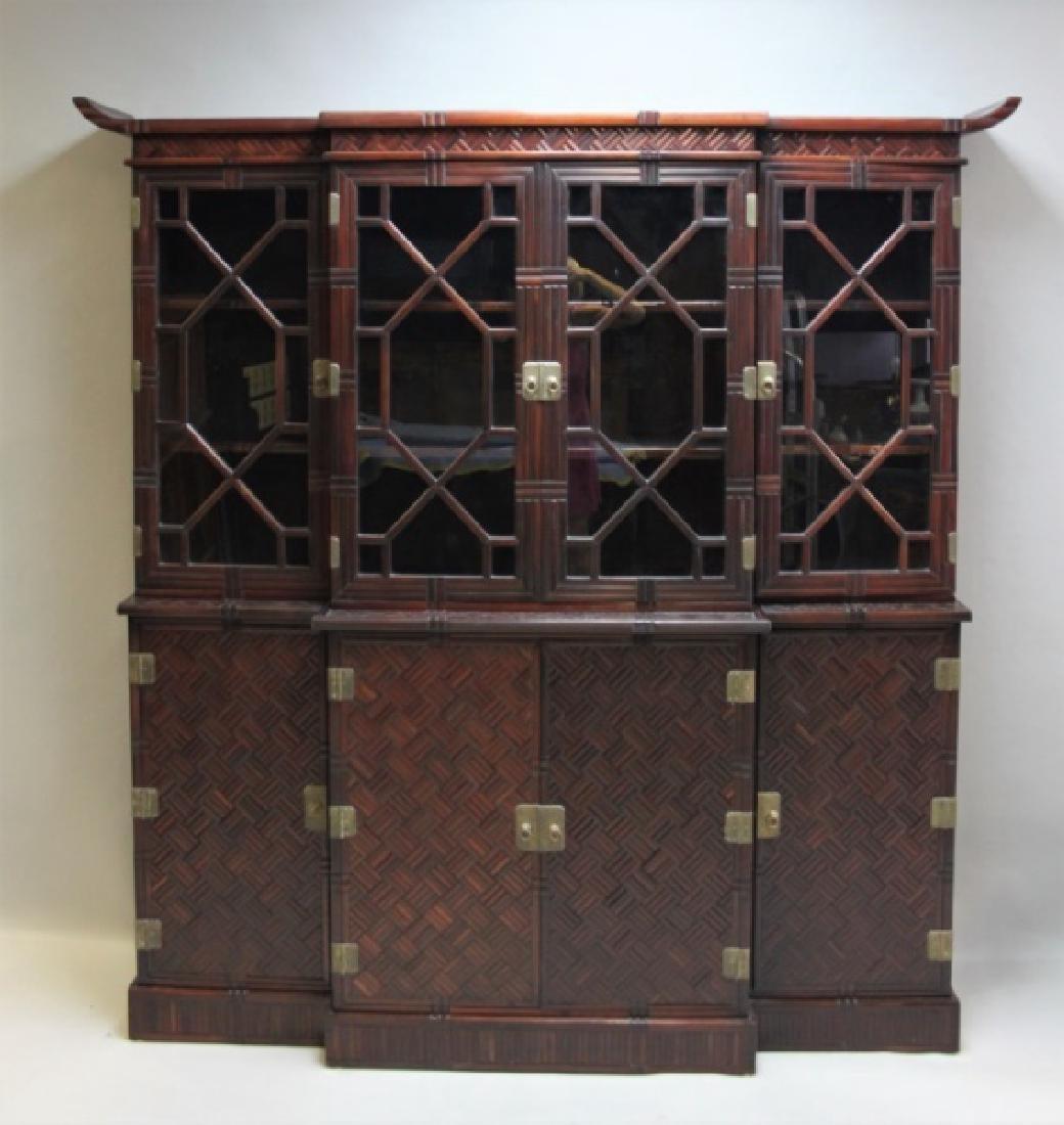 & Glascoe London Bamboo China Cabinet