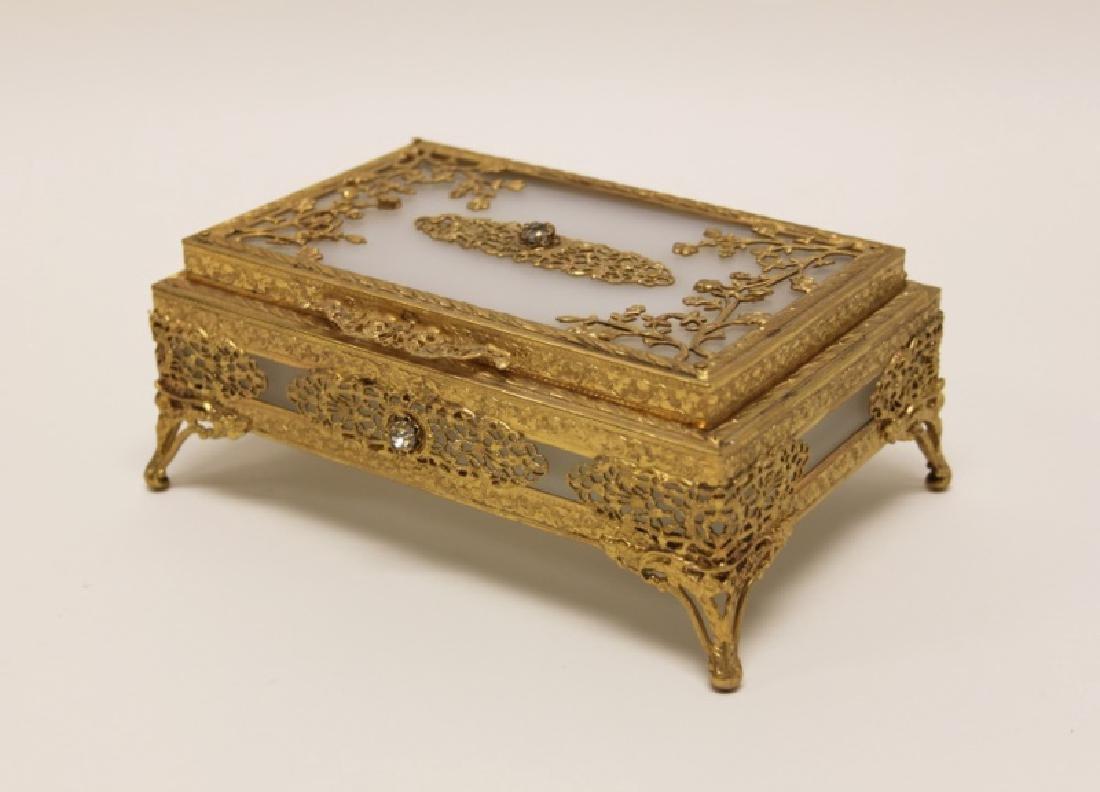 Vintage Louis XV Style Dore Bronze Jewelry Box
