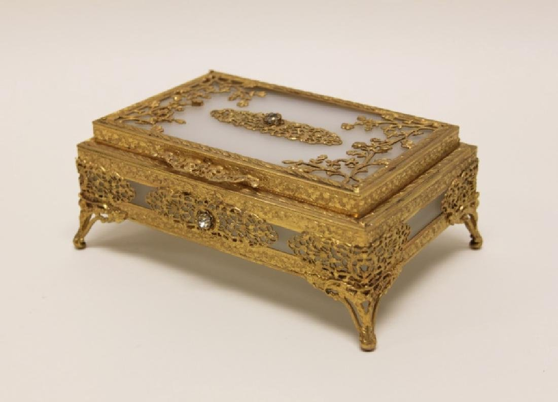 Vintage Louis XV Style Dore Bronze Jewelry Box
