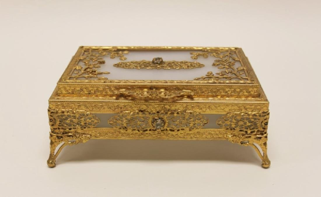 Vintage Louis XV Style Dore Bronze Jewelry Box - 2