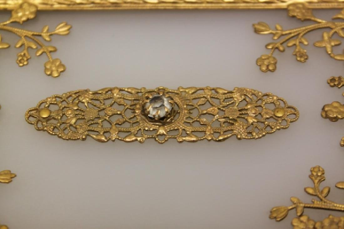 Vintage Louis XV Style Dore Bronze Jewelry Box - 5