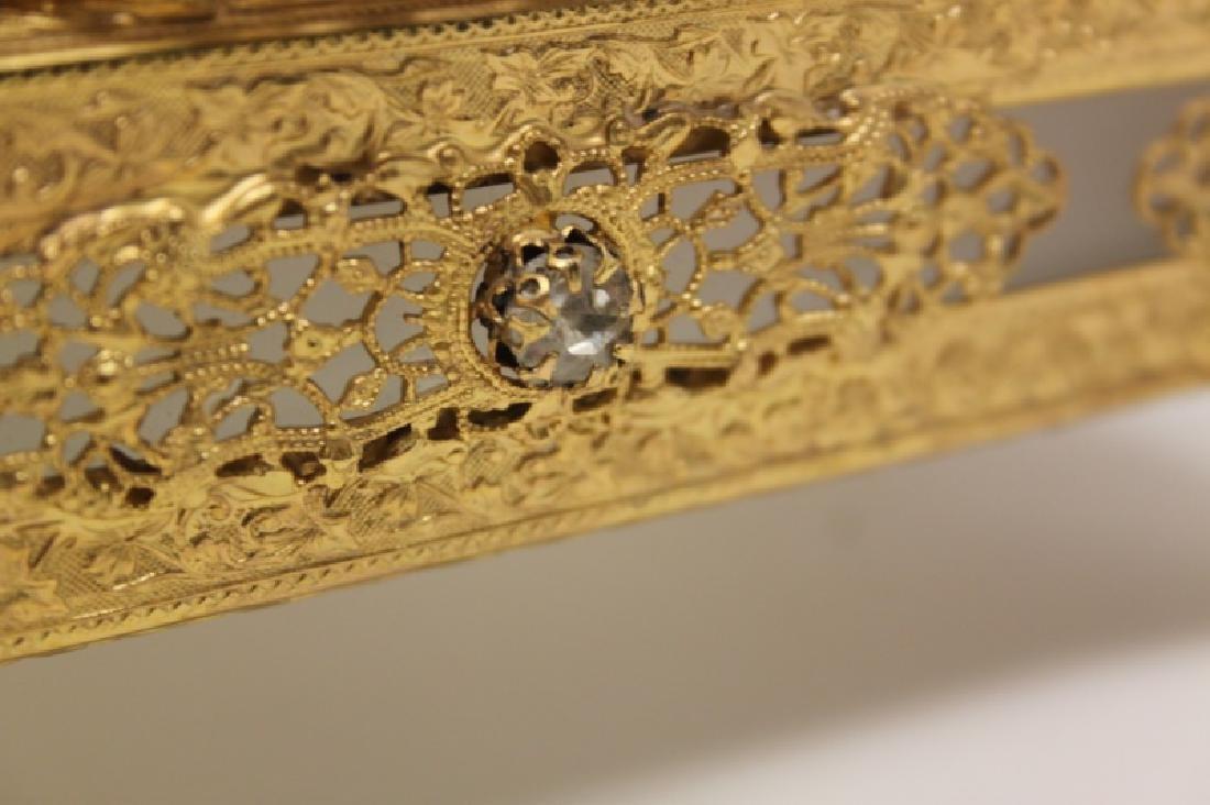 Vintage Louis XV Style Dore Bronze Jewelry Box - 6
