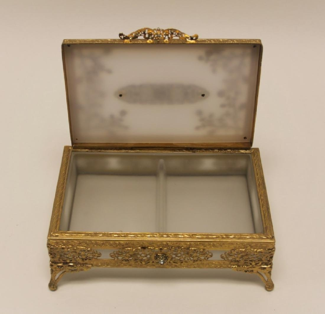 Vintage Louis XV Style Dore Bronze Jewelry Box - 7