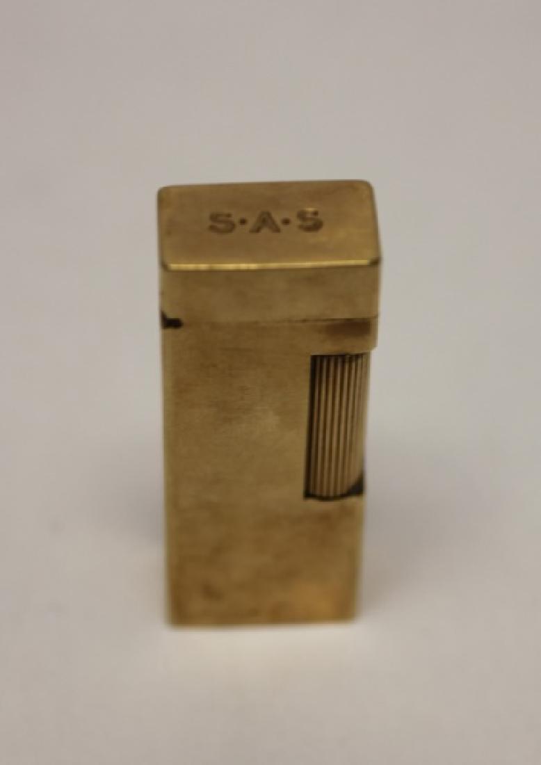 14K Gold Men's Lot: Cuff links, Lighter, Stirrer - 2
