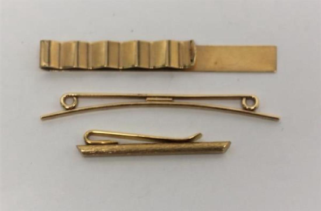 14K Gold Men's Lot: Cuff links, Lighter, Stirrer - 6