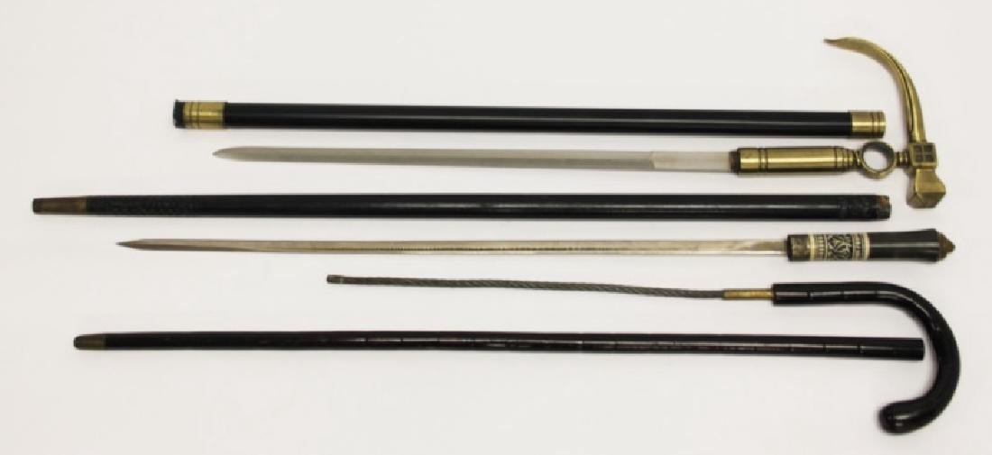 (3) Vintage Hidden Weapon Tactical Walking Sticks