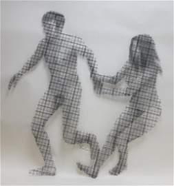 MCM Stephen Rochow Woven Wire Mesh Nudes Sculpture