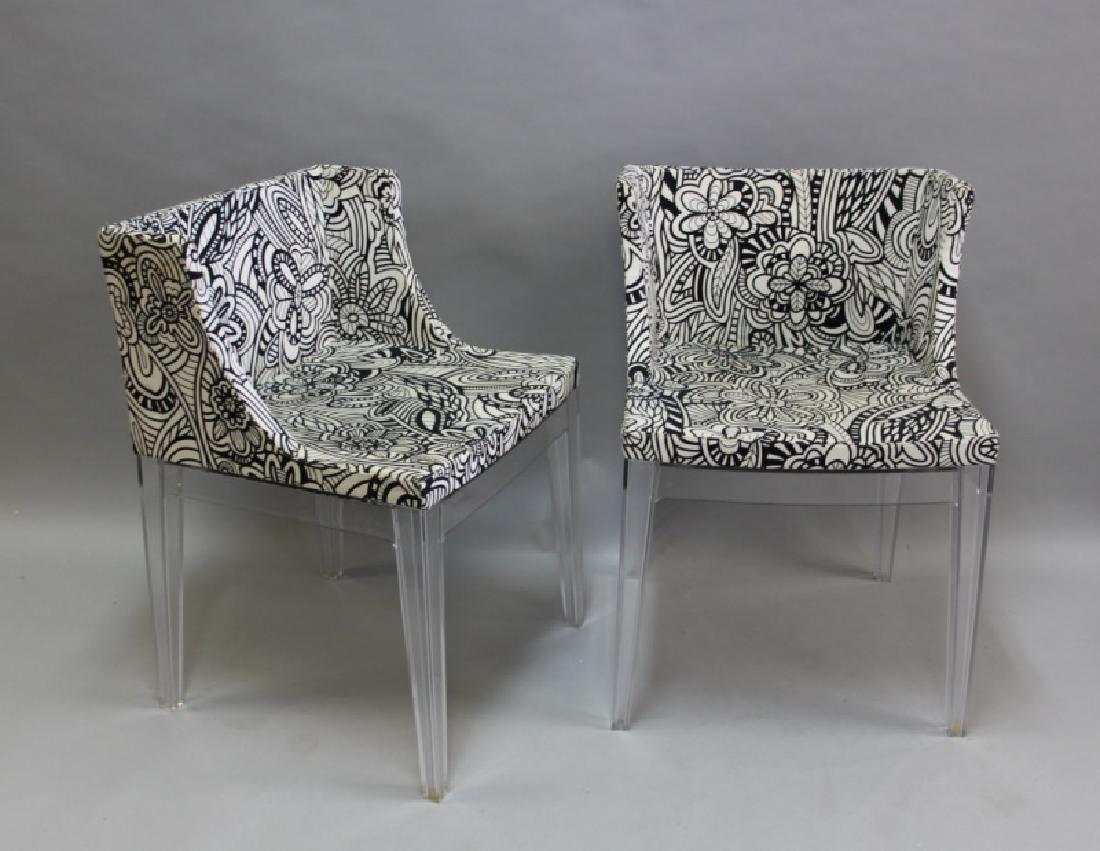 Pair Philippe Starck Kartell Mademoiselle Chairs